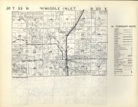 Wausaukee, Middle Inlet T33N-R20E, Marinette County 1954